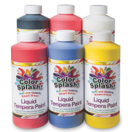 16-oz. Color Splash!® Liquid Tempera Paint Assortment (pack of 6)