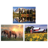 Landscapes 300-Piece Jigsaw Puzzles (set of 3)