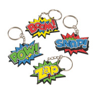 Super Hero Key Chains (pack of 12)