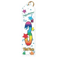 3rd Place Multicolor Ribbons (pack of 25)