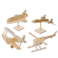 Unfinished Fantasy Flight Assortment, Unassembled (pack of 4)