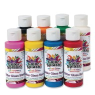 4-oz. Color Splash!® Glitter Glass Stain Assortment (pack of 8) (pack of 8)