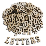 Wood Craft Letters (pack of 300)