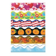 Seasonal Bulletin Border Trim Pack (pack of 6) (pack of 6)