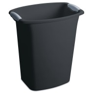 Sterilite® Ultra 3-Gallon Wastebasket Black With Titanium Inserts