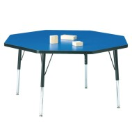 "48""-diameter Octagon Activity Table, 11-15""H"