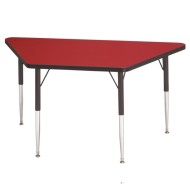 "24""x48"" Trapezoid Activity Table, 24-31""H"