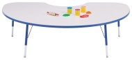 "Rainbow Accents® 48"" x 72"" Kidney Table, 24-31""H"