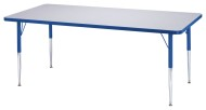 "Rainbow Accents® 30"" x 60"" Rectangle Table, 11-15""H"