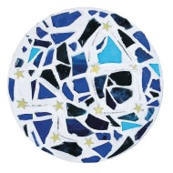Starry Night Stepping Stone Craft Kit (pack of 6) (makes 6)