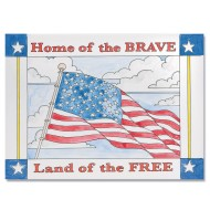 Home of the Brave Paintings (pack of 24) (makes 24)