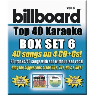 Party Tyme Karaoke CD+G Billboards Top 40 Box Set 6