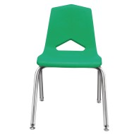 Marco Chair, Green Shell Chrome Frame