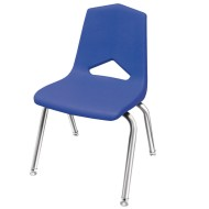 Marco Chair, Blue Shell Chrome Frame