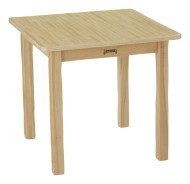 "24"" Square Butcherblock Play Table"