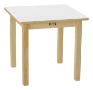 "24"" Square White Laminate Play Table"