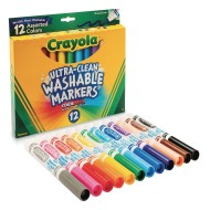 Crayola® Washable Markers, Conical Tips (box of 12) (box of 12)