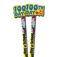 100th Day Pencils and Erasers (pack of 36) (pack of 36)