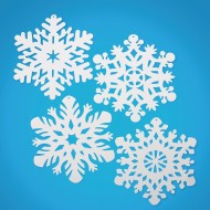 "14.4"" White Snowflakes (pack of 24) (pack of 24)"