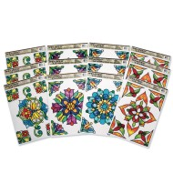 Rectangle Stained Glass Window Clings (pack of 12)