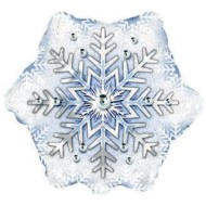 Snowflake Mylar® Balloon (pack of 10) (pack of 10)