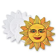 Color-Me™ Ceramic Bisque Aztec Sun Plaques (makes 12)