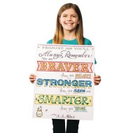 Paint-a-Dot™ Braver...Stronger Poster Craft Kit (makes 12) (makes 12)