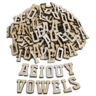 Wood Craft Vowel Letters (pack of 144)