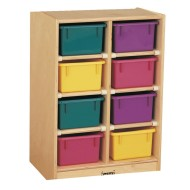 8-Tray Cubbie with Color Trays