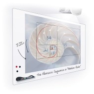Elemental Frameless Dry Erase Board 4 x 4