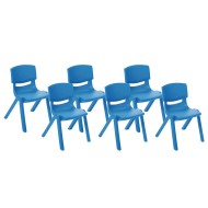 "Resin Stack Chairs - 10"" (set of 6) (set of 6)"