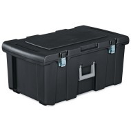Sterilite® 16-Gallon Black Footlocker