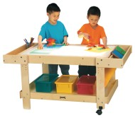 "Creative Caddie Light Table With Bins - 42"" Long"