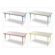 "Marco® Activity Tables, Gray Top, 30""x48"" 16-24""H"