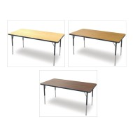 "Marco® Activity Tables, Wood Top, 30"" x 72"" x 21-30""H"