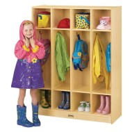 "Coat Locker, 4 Sections, 39"" x 15"" x 50-1/2"""