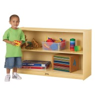 "Low Straight-Shelf Mobile Unit, 48"" x 15"" x 29-1/2"""