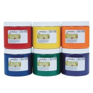 Handy Art® Washable Finger Paint, Primary Colors (set of 6) (set of 6)