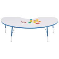"Rainbow Accents® 48"" x 72"" Kidney Table, 15-24""H"