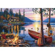 Canoe Lake Jigsaw Puzzle, 300 Pieces