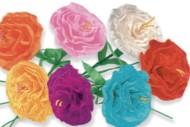 Festive Paper Flowers (box of 24)