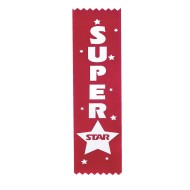 Super Star Award Ribbon (pack of 12) (pack of 12)