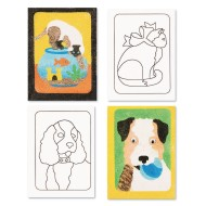 "Sand Art Boards 5""x7"" - Dogs & Cats (pack of 12) (pack of 12)"