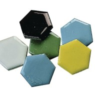 Mosaic Tile Shapes - Hexagon, 5-lb. (bag of 320)