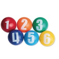"3"" Spectrum™ Numbered Vinyl Balls (set of 6)"