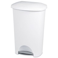 Sterilite® 11 Gallon StepOn Waste Basket - White