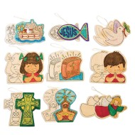 Wood Christian Ornaments (pack of 144)