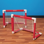 "Mini PVC Hockey Goal Set, 25""W x 20""H (set of 2)"
