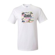 PE Action Words T-Shirt, White