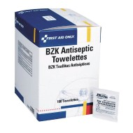 First Aid Only™ BZK Antiseptic Towelettes (box of 100)